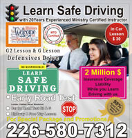 INTERNATIONAL STUDENT Learn Driving