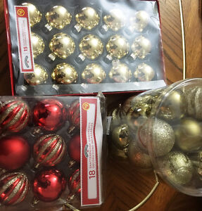 Christmas Shatter Proof and glass Ornaments-Xmas