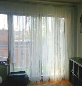 Sheer blinds/Curtains, Large size.Beautiful window/door treatmen