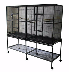 Spacious Double Flight Cage for Canary Finch Budgie Cockatiel