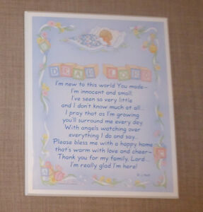 'Dear Lord' baby plaque prayer