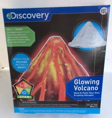 Discovery Kids Glowing Volcano Kit School Home Science Project Mold & Paint - Volcano Science Kit
