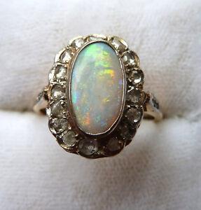 Bague Antique Opale Or Diamants West Island Greater Montréal image 2