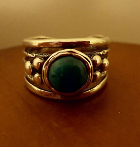 NEW!! Women's Shablool Sterling Silver Turquoise Ring (size 6.5)
