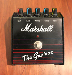 Original, vintage Marshall Guv'Nor Overdrive effects pedal.