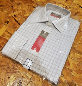 "New Marks & Spencer Mens Dress Shirt - Size 15"" - Check Pattern"