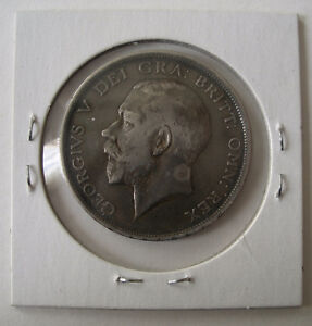 1914 Great Britain 1/2 Crown Silver Coin .925 Sterling Peterborough Peterborough Area image 2