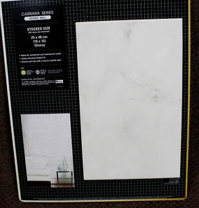 SALE! 10X16 Carrara Glossy Ceramic Tile $2.70sf
