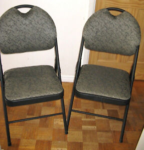 6 Fabric Padded Folding Chairs (3 Sets or 2)