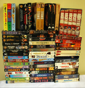 Large VHS Movie Lot
