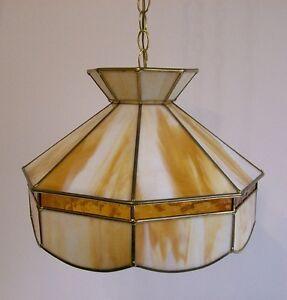 Lampe Suspendue Vintage - Vintage Slag Glass Lamp