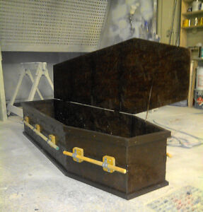 Halloween Dracula wood coffin