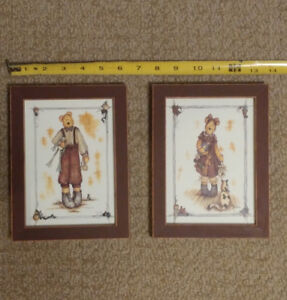 2 Framed Bear accent pictures - only $3 for both
