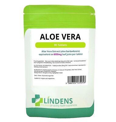 Lindens Aloë Vera Juice 6000mg 2-PAK 180 tabletten Grote sterkte Supplement
