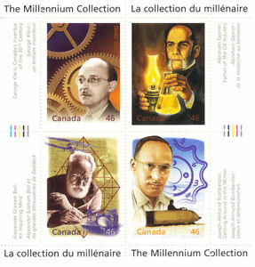Canada Stamps - The Millennium Collection - Fathers of Invention West Island Greater Montréal image 1