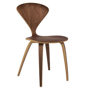 Cherner Style Dining Chair Mid-Century Modern Wood Side Wooden