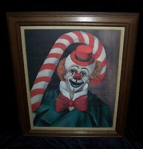 CANDY CANE CLOWN BY RED SKELTON SIGNED & AUTOGRAPHED LITHOGRAPH