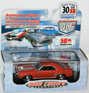 Road Champs 1/43 1969 Chevrolet Camaro Diecast Car Orange