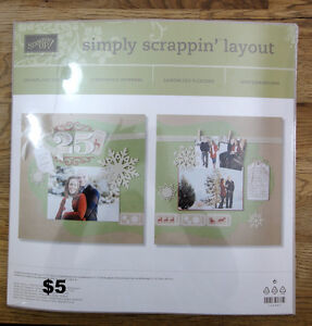 Stampin Up Simply Scrappin' layout kit - Christmas, scrapbook