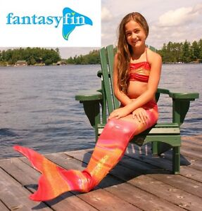 SWIMMABLE MERMAID TAIL/ FIN BY FANTASY FIN, KIDS (7/8), HAWAIIAN