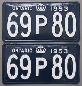 Vintage YOM License Plates - Ministry Approval Guaranteed! Peterborough Peterborough Area image 8