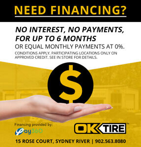 SERVICE, REPAIR & TIRES FINANCING NOW AVAILABLE!!!