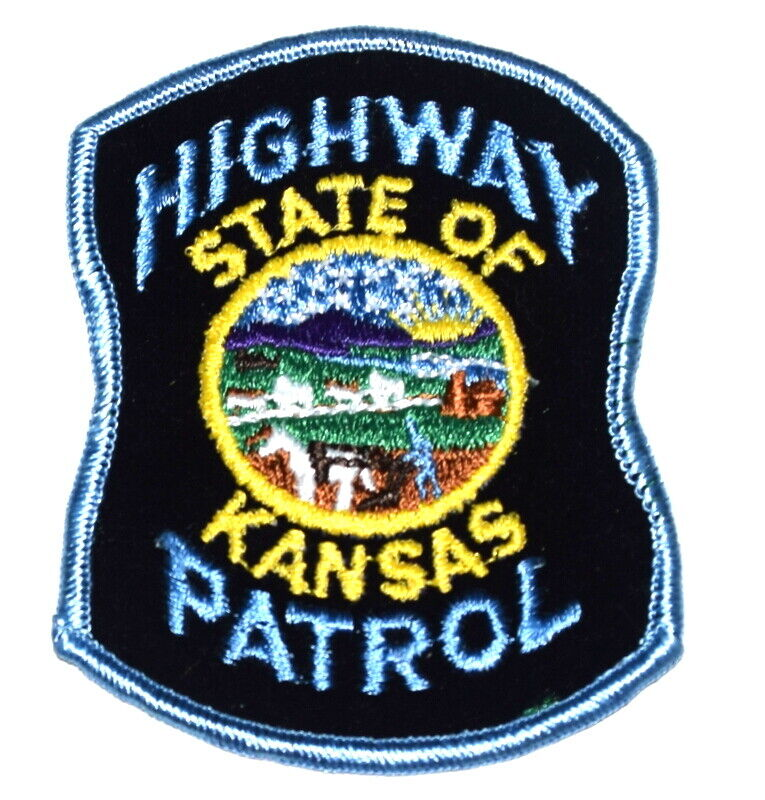 KANSAS HIGHWAY PATROL KS Sheriff Police Patch STATE SEAL FELT ~