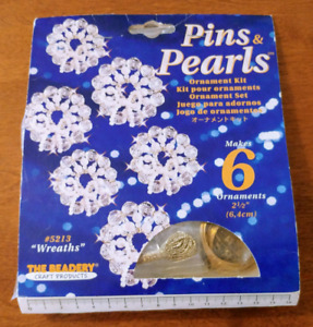 """NEW"" Pins & Pearls Ornament Set"