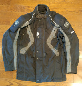 Black RHYNO Motorcycle Jacket with Vents & Armor