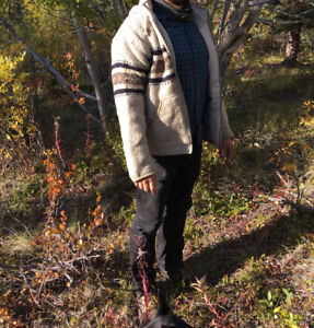 Men Wool Sweater with hoodie