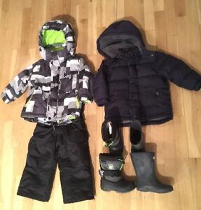 Ensemble de neige 2 ans, bottes manteau d'hiver / bottes Hunter