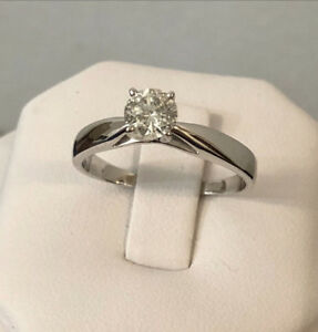 14K Gold .60tc. Diamond Engagement Ring /Certified at $5,450