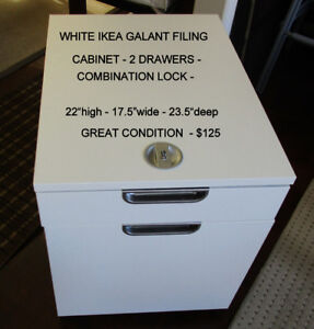 IKEA GALANT FILING CABINET WITH COMBINATION LOCK - GRT. COND.