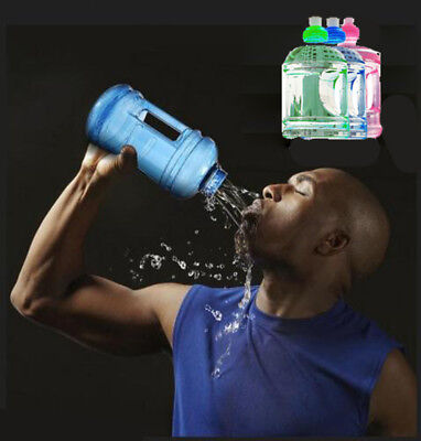 1000ML Big Large BPA Free Sport Gym Training Drink Water Bottle Cap Plettle DS