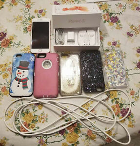 Rose Gold iPhone 6s 64GB Unlocked and accessories