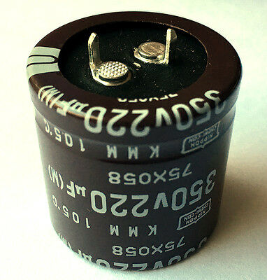 220uf 220 Uf 350v Radial Electrolytic Capacitors Snap In Lot Of 5