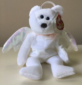 Ty Beanie Baby HALO Angel. Retired. Errors On Tags. New. Brown Nose Black Eyes.