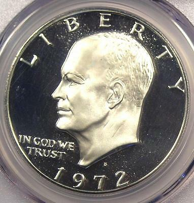 Click now to see the BUY IT NOW Price! 1972 S PROOF EISENHOWER IKE DOLLAR $1  PCGS PR70 DCAM PF70   $1,100 VALUE
