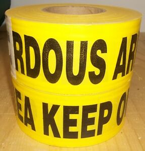 2 - ROLLS OF YELLOW CAUTION TAPE ( KEEP OUT DANGERDOUS AREA )