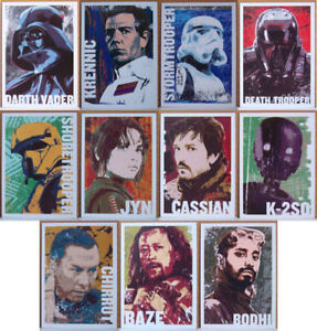 2016 Topps Star Wars Rogue One # 1 Character Icon 11 card set