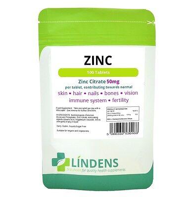 Citrate) 90 Tabletten (Lindens 3-Stärke Zink Citrate Max 90 Tabletten mit Vitamin C & Copper)