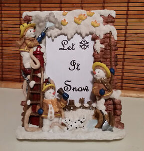 """""""Let It Snow"""" Frame with Snowmen - new"""