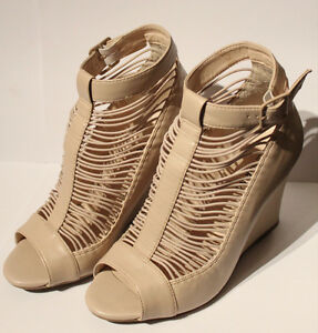 Spring - Beige Wedge Size 7 (fits size 6.5 feet)