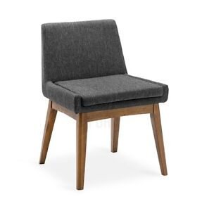 Dining Chair Modern Mid-Century Scandinavian Wooden Wood Fabric Stratford Kitchener Area image 1