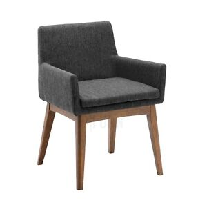 Dining Chair Modern Mid-Century Scandinavian Wooden Wood Fabric Stratford Kitchener Area image 2