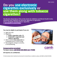 Do you use e-cigarettes/vapes? Recruiting for research study