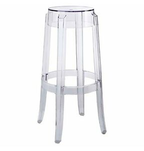 Starck Style Ghost Stool Clear Modern Barstool Bar Design