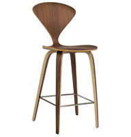 Cherner Style Wooden Counter Stool | Mid-Century Wood Bar Stool
