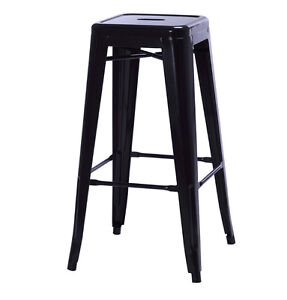 $69 Tolix Style Industrial Bar Stool 67cm 75cm Counter Barstool