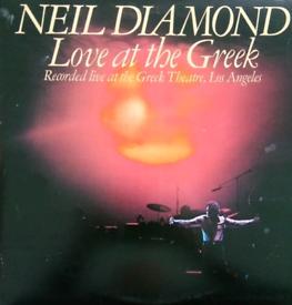 Neil Diamond - Love At The Greek. Vinyl LP Double Record Album.